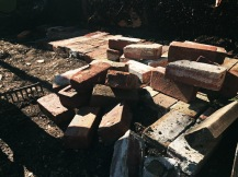 Laying down bricks
