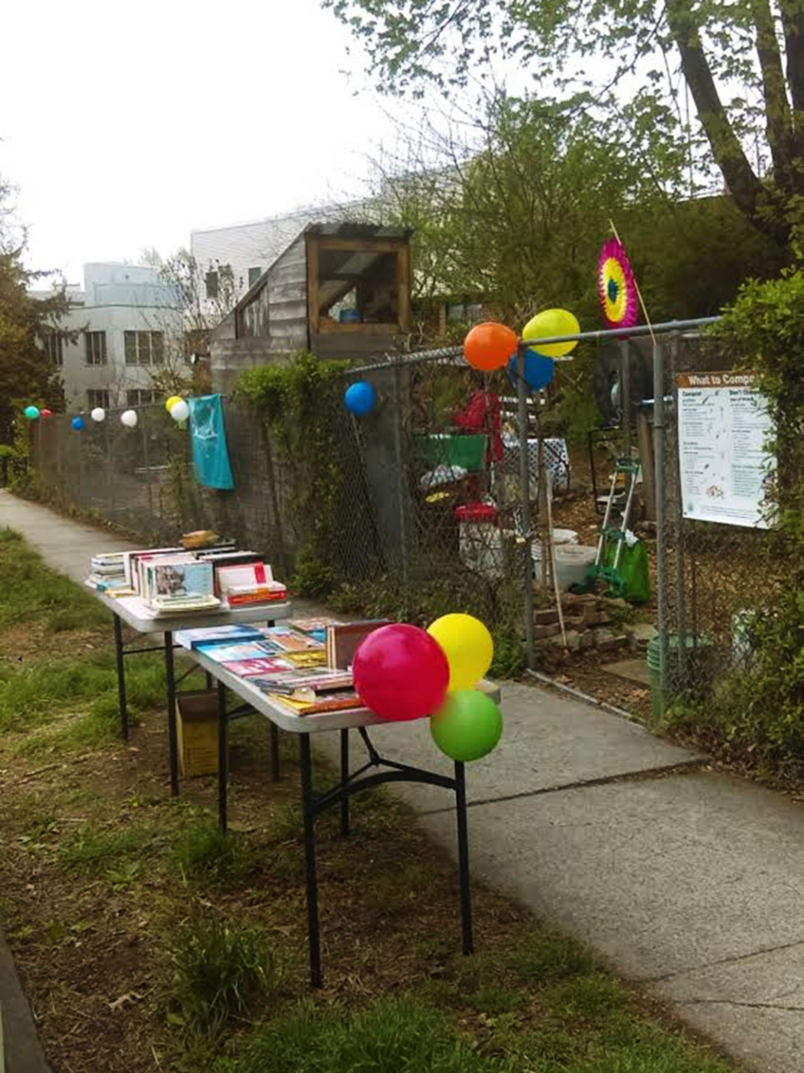 Balloons and books