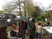 Neighbors gathered